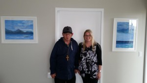 Mark and Sharon with artwork